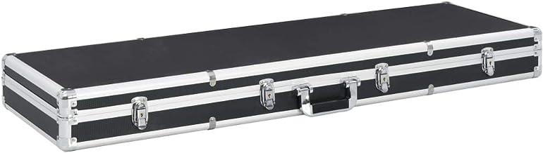 vidaXL Wapenkoffer Aluminium ABS Zwart Opbergkoffer Pistoolkoffer Geweerkoffer