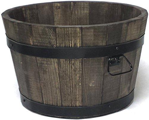 evama Holzkübel, Übertopf, Gartenkübel, 100% Holz (B50xH31) Farbe Palisander