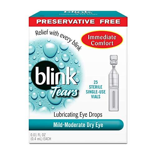 AMO Blink Tears Lubricating Eye Drops, Single Use Vials, 0.01 fl oz, 25 ct, 2 pk