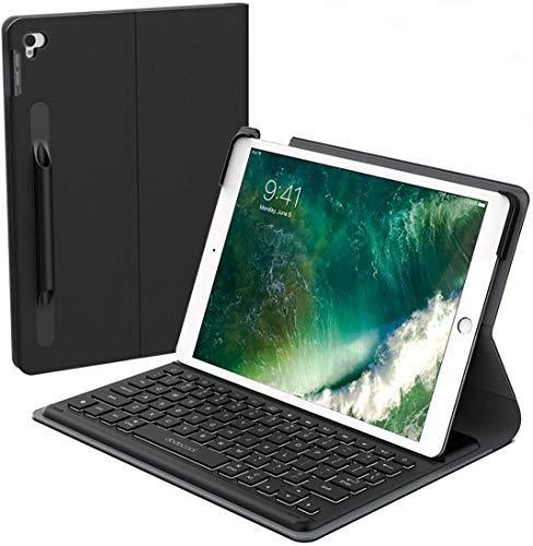 "Smart Keyboard for iPad Air 3rd Gen 10.5"" 2019 & iPad Pro 10.5"" 2017, iPad Wireless Keyboard Case with Keyboard, Smart Connector, Backlit, Shortcuts, Auto Sleep/Wake, Pencil Holder[MFi Certified]"