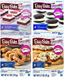 Easy Bake Mega Bundle Set of 4 Oven Mixes Refills (Pizza, Party Pretzel Dippers, Red Velvet & Strawberry Cakes, Mini Whoopie Pies)