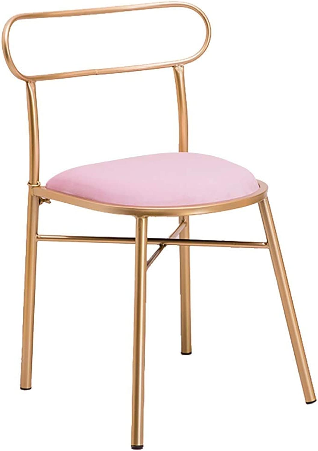 golden Dining Chair Lounge Chair Designer Dressing Table Chair Makeup Stool Curved Backrest Wrought Iron Chair Comfortable Sedentary Suitable For Restaurants offices counters families cafes restaurant