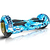 SYLTL Hoverboard, 8' Smart Self Balance Elettrici Scooter 2 * 350W Motore, LED Elettrico...