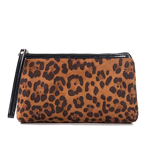 Leopard Cosmetic Bag Women Travel Makeup CaseOrganizer Storage Pouch Toiletry Wash Bags Portable MakeupPouch A 22*5.5*12.5