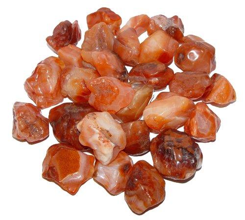 100 Gramm Carneol Achat anpoliert ohne scharfe Kanten Wassersteine Handschmeichler ca. 4 - 7 Steine.(2144)