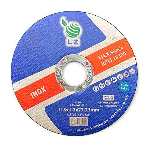 Dischi di Taglio Metallo 115mm x 1mm x 22mm - Pacco da 10 Pezzi, per smerigliatrice, RPM 13300, 80M/S (10)