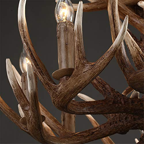 CZPF Antlers Resin Life Chandelier Lamp Modern LED Antler Bedroom Chandelier Lustre Chandeliers E14 Vintage Lights Novelty Lighting A 6