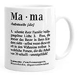 Kaffee-Tasse Mama Definition Dictionary Wörterbuch Duden Geschenk für Mama Mutter
