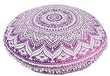 Indischen Ombre Mandala Kissen, GROßEN Runden Boden Kissen, dekoratives Kopfkissen, Roundie Boho...