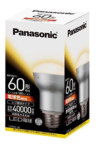 パナソニック LED電球 EVERLEDS レフ電球60W相当 密閉形器具対応 E26口金 電球色相当(6.4W) 一般電球・レフ...