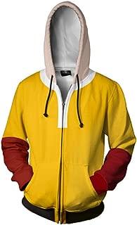 YOYOSHome Anime One Punch Man Hoodie Saitama Sweatshirt Jacket Costume Sweater Fleeces