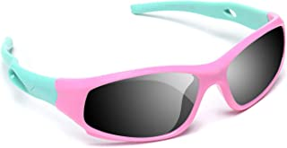 AODUOKE Sports Polarized Kids Sunglasses For Boys Girls Children Youth Sunglasses With Strap