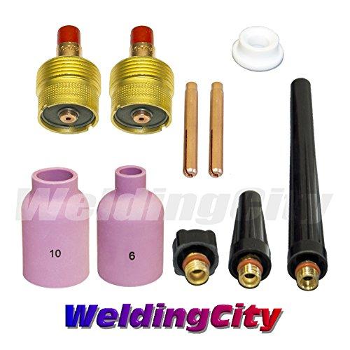 WeldingCity TIG Welding Large Gas Lens Accessory Kit (1/16