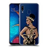Head Case Designs Unbreakable Woman Gold Queens Soft Gel Case Compatible for Samsung Galaxy A20 / A30 (2019)