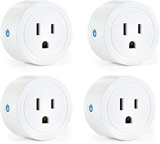 Vestaiot Smart Plugs Compatible with Alexa Google Home IFTTT for Voice Control, Mini Smart Outlet Plug Wifi Smart Socket with Timer Function, FCC ETL Certified, No Hub Required (4 Pack)