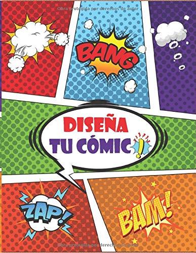 Diseña tu Cómic: Crea tu propio Cómic, Cuaderno grande y cuaderno de dibujo para que niños y adultos dibujen cómics y diarios, Cómic en blanco