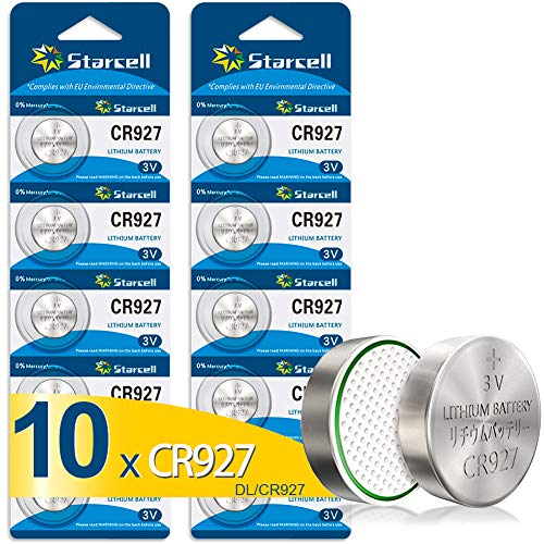 Act 10 x CR927 3V Lithium Knopfzelle 30 mAh (2 Blistercards a 5 Batterien)