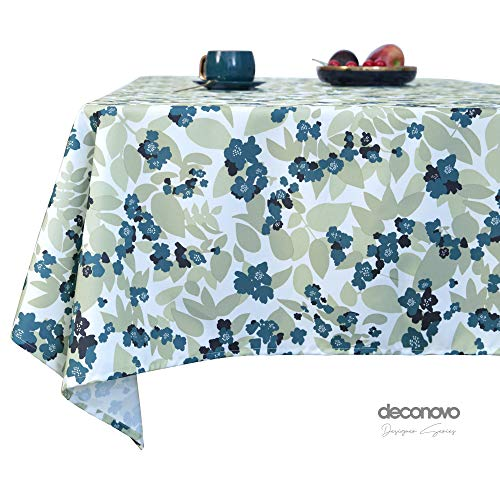Deconovo Designer serie waterbestendig en afwasbaar tafelkleed met bloemen patroon