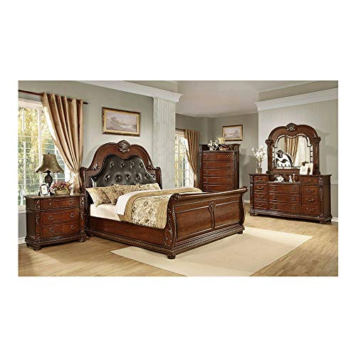 For Sale! Thaweesuk Shop Brown Cherry 5 Pcs. King Size Eastern Luxurious Bedroom Set Old-World Europ...