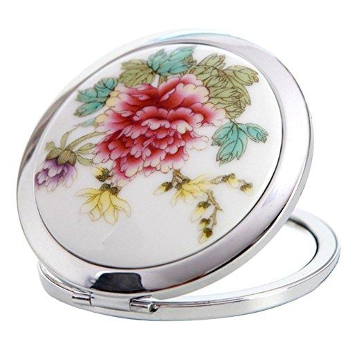 Namgiy Miroir cosmétique de poche de voyage ultra fin pour maquillage quotidien, petits cadeaux Rouge
