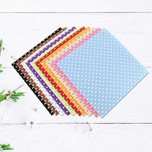 Tela no tejida de bricolaje, tela no tejida de material de bricolaje, patrón de nubes para hacer disfraces suministros manualidades navideñas(30 * 30cm10 colors/bag)