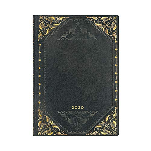 Paperblanks 12 Monate Softcover Flexis-Kalender 2020 Midnight Rebel | Horizontal | Midi (130 × 180 mm)