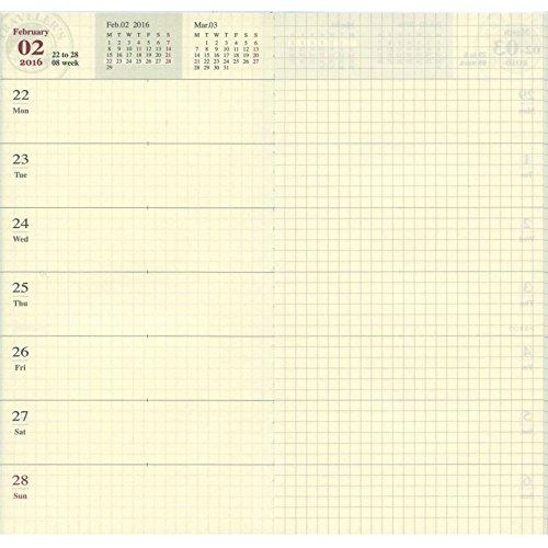 『トラベラーズノート 2016年 手帳 リフィル ウィークリー A5スリム 14360006』の1枚目の画像
