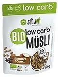 JabuVit Low-Carb Bio Müsli - 37% Protein - wenig Kohlenhydrate und Zucker - 500 g (Mandel-Schoko)