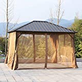 Festnight Outdoor Patio Aluminum Metal Backyard Hardtop Garden Gazebo...