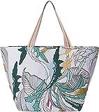 CODELLO Bolso de lona para mujer con estampado de hojas decorativas. verde menta Talla única