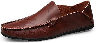 834ba220 Zapatos De Conducción Mocasines Hombres Zapatos De Vestir Casuales  Holgazanes Slip on Verano Plano De Cuero