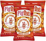 ADDICTIVELY DELICIOUS: PigOut Nacho Cheese meatless snacks are a deliciously cheesy treat. Our plant-based non-greasy snacks are baked, not fried- satisfy your craving the healthy way! HIGH PROTEIN: Our vegan snacks are packed with 25 grams of protei...