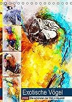 Exotische Voegel - Die Schoensten der Welt in Aquarell (Tischkalender 2022 DIN A5 hoch): Farbenfrohe Vogelwelt rund um den Globus (Planer, 14 Seiten )