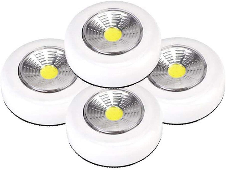 3D Nachtlicht LED Nachtlicht Pat Licht Touch Lampe Runde Batteriebetriebene Drahtlose Lichter Kabinett Lampe Studie Notfall Tasche Licht (5 Stücke) LED-Lichtquellen