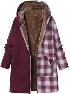 Women's Winter Oversized Warm Coat Hoodie Casual Thicken Faux-Fleece Lined Parkas Overcoat Outwear Jacket