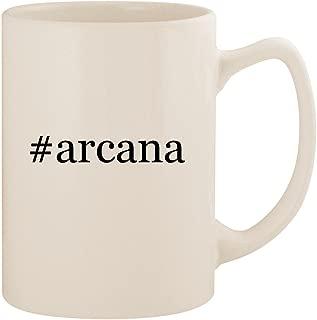 #arcana - White Hashtag 14oz Ceramic Statesman Coffee Mug Cup