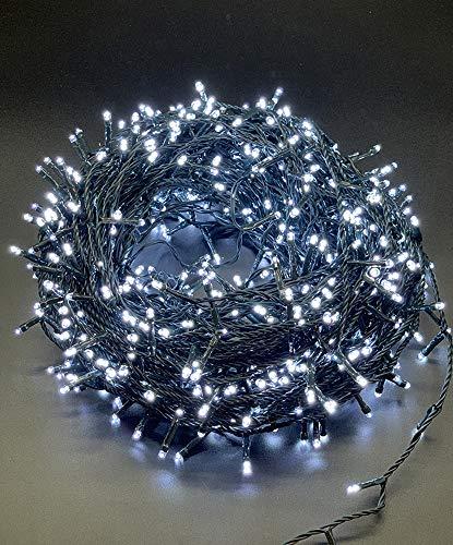 Style home 400 LED Lichterkette Innen und Außen 6,7m Lichterketten mit 8 Leuchtmodi,Timer Funktion, Lichter für Party Weihnachten Hochzeit Garten Festival Deko (Kaltweiß, IP44 Wasserdicht)