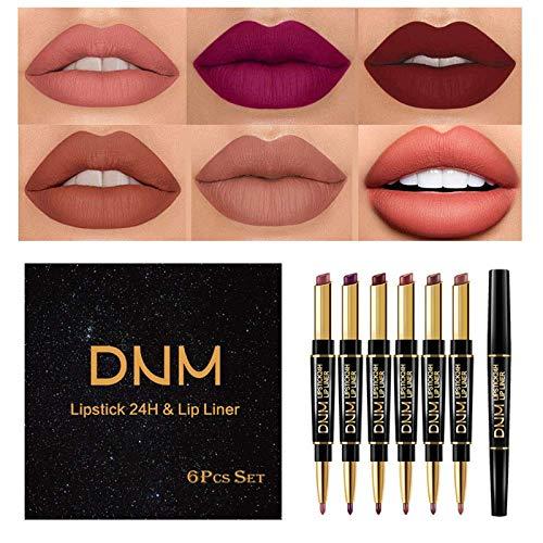 Yelna 6Pcs/Set Makeup Matte Lipstic…