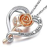 Friggem Collar De Plata Para Mujer, Colgante De Corazón, Joyas de amor para esposa Novia