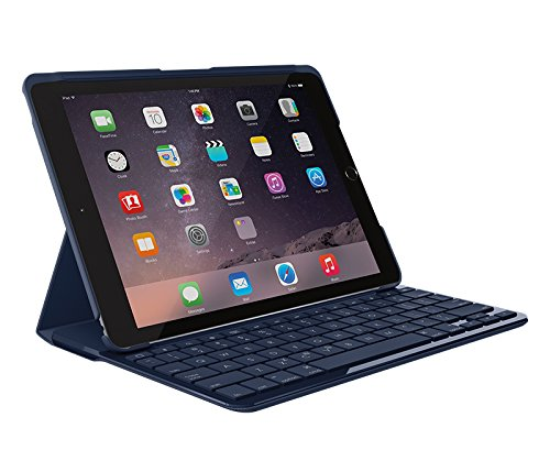 Logitech SLIM FOLIO Keyboard case for iPAD 5th GEN A1822 & A1823 BLUE UK LAYOUT