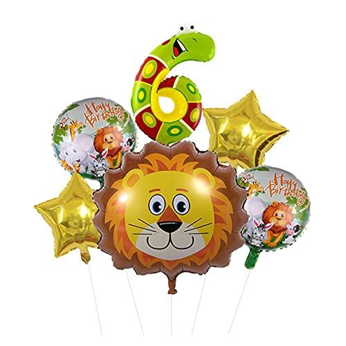 XIAOZSM Globos Lion Head Globos Set Animal Número de Diapositivas Globos Cumpleaños Cumpleaños Fiesta de cumpleaños Decoraciones Baby Shower ( Farbe : 6 )