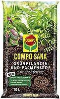 Compo Sana Groene planten- en palmaarde met 8 weken meststof voor alle kamer- en balkonplanten en palmen en varens,...