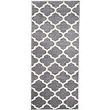 Carpeto Rugs Läufer Flur Teppich Modern Grau 70 x 150 cm Marokkanisches Muster Kurzflor Furuvik Kollektion