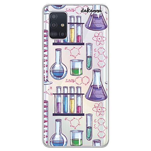 dakanna Funda Compatible con [Samsung Galaxy A51] de Silicona Flexible, Dibujo Diseño [Formulas y Ciencia], Color [Fondo Transparente] Carcasa Case Cover de Gel TPU para Smartphone