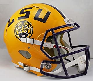 Riddell NCAA LSU Tigers Full Size Speed Replica Helmet, Yellow, Medium