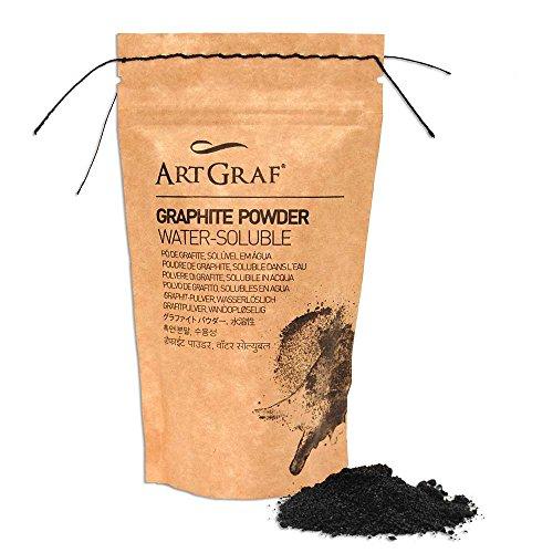 Art Graf - Polvo de grafito soluble en agua, bolsa de 100 g, color gris