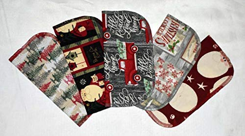 1 Ply Printed Flannel Little Wipes of Inches 8x8 5 Set Classic Easy-to-use Primitive