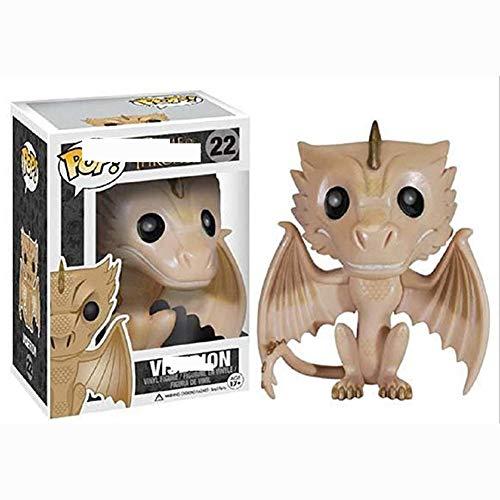 YYQIANG Figura POP Juego de Tronos de dragón dorado Viserion modelo PVC alrededor de 3.93 pulgadas (color: B)