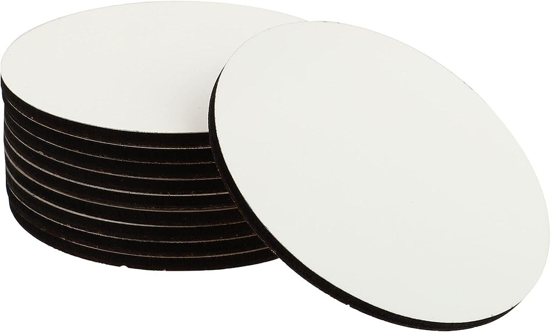 half VICASKY 10pcs Heat Transfer Coasters Sublimation Blanks Low price
