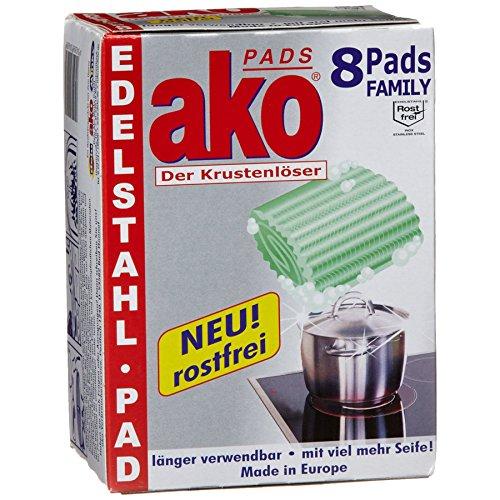 Ako Pads Edelstahl Family, 3er Pack (3 x 8 Stück))